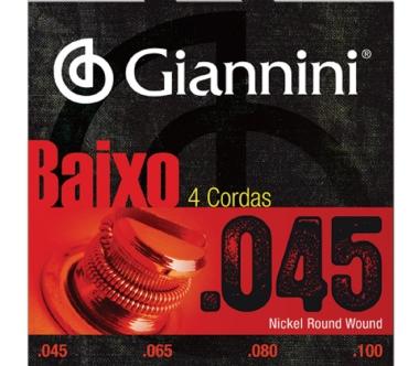 Encordoamento Contrabaixo 4 Cordas .045 Giannini GEEBRS