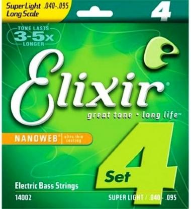 Encordoamento Contrabaixo 4 Cordas Super Light .040 Elixir 14002