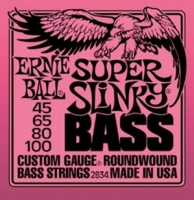 Encordoamento Contrabaixo 4 Cordas Super Slinky Bass .045 Ernie Ball