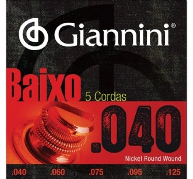 Encordoamento Contrabaixo 5 Cordas .040 Giannini GEEBRL