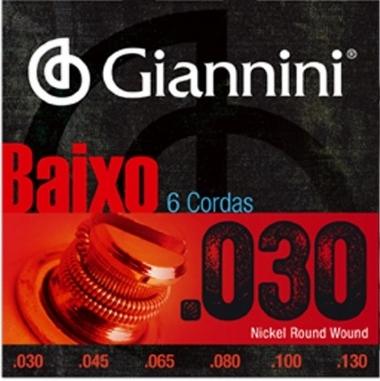 Encordoamento Contrabaixo 6 Cordas .030 Giannini GEEBRL