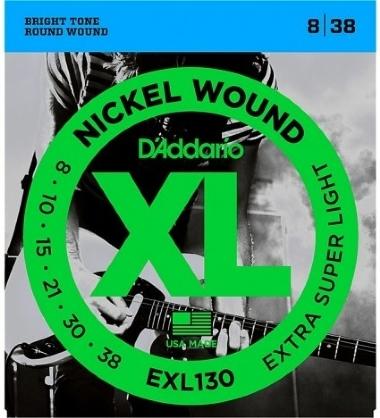 Encordoamento Guitarra .008 D'Addario EXL130