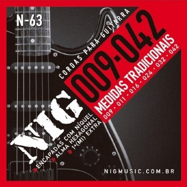 Encordoamento Guitarra .009 NIG N-63