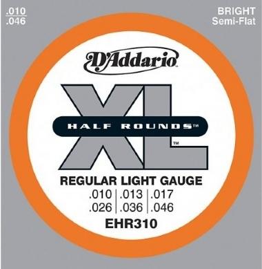 Encordoamento Guitarra .010 D'Addario Regular Light XL EHR310