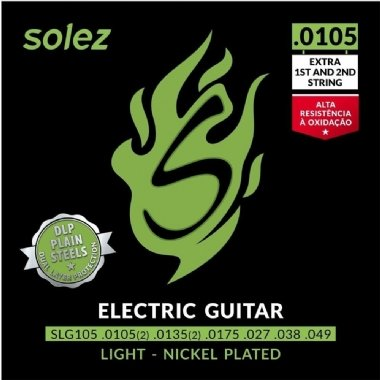 Encordoamento Guitarra .0105 Solez Light SLG105