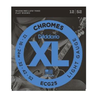 Encordoamento Guitarra .012 D'Addario Chromes ECG25