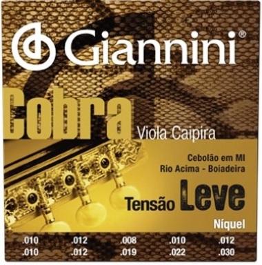Encordoamento Viola Caipira .010 Giannini Tensão Leve GESVNL