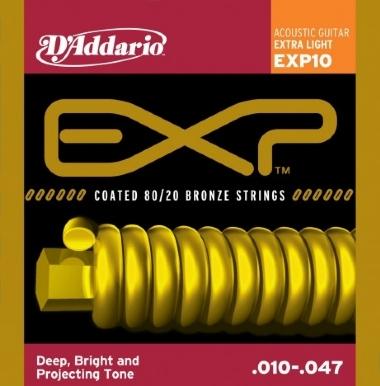 Encordoamento Violão Aço .010 D'Addario Extra Light EXP10