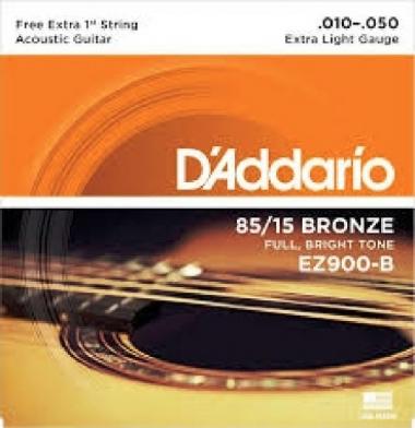 Encordoamento Violão Aço .010 D'Addario Extra Light EZ900-B