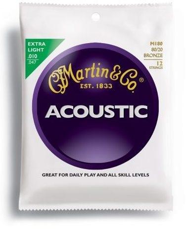 Encordoamento Violão Aço .010 Martin Extra Light M170