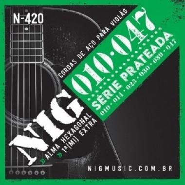 Encordoamento Violão Aço .010 NIG N-420