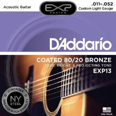 Encordoamento Violão Aço .011 D'Addario Custom Light EXP13