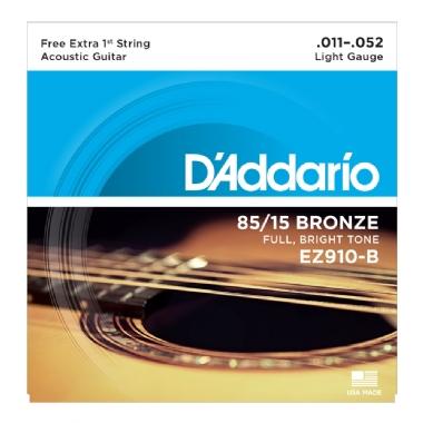 Encordoamento Violão Aço .011 D'Addario Light EZ910-B