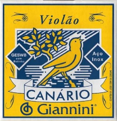 Encordoamento Violão Aço .011 Giannini Canário GESWB