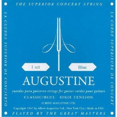 Encordoamento Violão Nylon Augustine Classic Blue .028 Tensão Alta