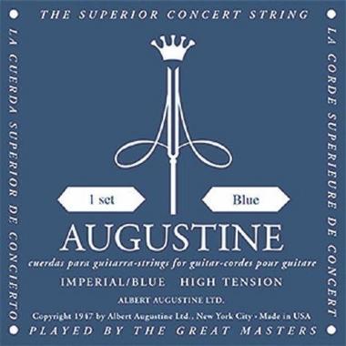Encordoamento Violão Nylon Augustine Imperial Blue .028 Tensão Alta