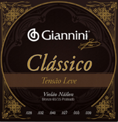 Encordoamento Violão Nylon Giannini .028 Tensão Leve Clássic