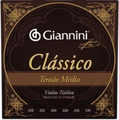 Encordoamento Violão Nylon Giannini .028 Tensão Média Clássic
