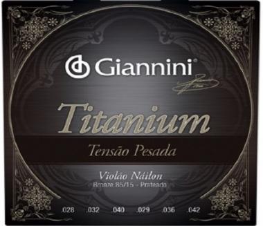 Encordoamento Violão Nylon Giannini .028 Tensão Pesada Titanium