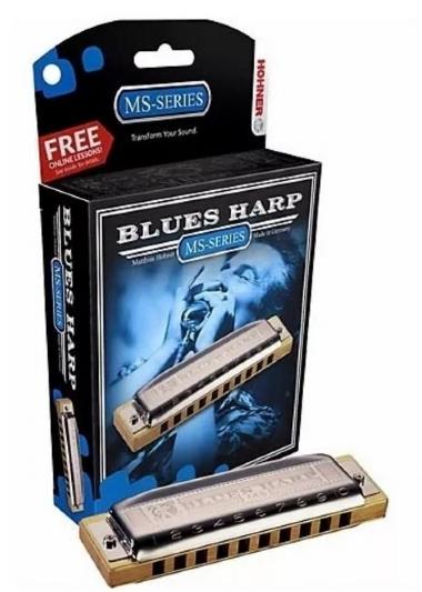 Gaita Diatônica Hohner Blues Harp MS 532/20 D Ré