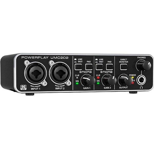 Interface de Áudio Behringer U-Phoria UMC202 HD