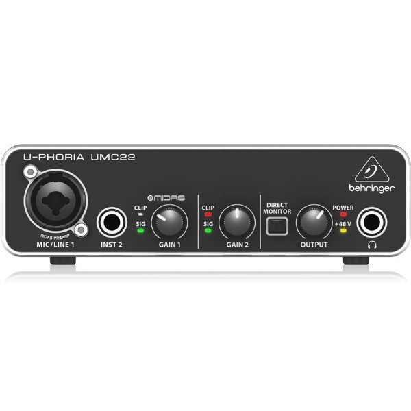 Interface de Áudio Behringer U-Phoria UMC22