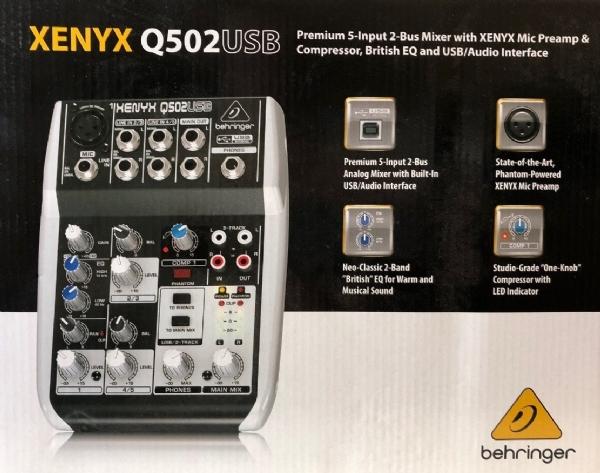 Mesa 05 Canais Behringer Xenyx Q502 USB