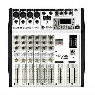 Mesa de Som 06 Canais Staner MX0603 USB 38156