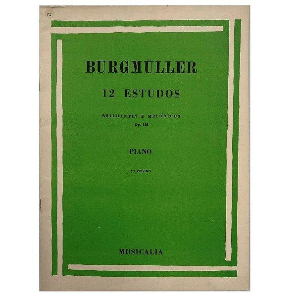 Método para Piano 12 Estudos Brilhantes e Melódicos Burgmüller - Vol 3