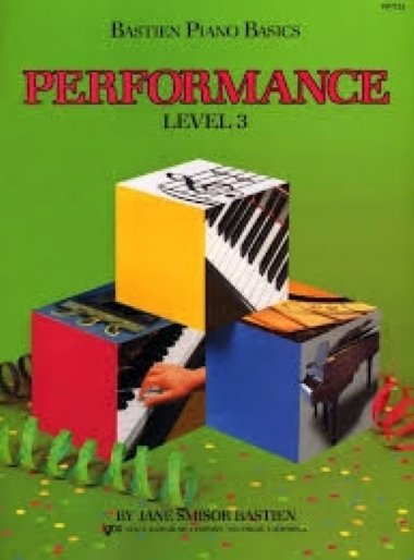 Método Piano Básico de Bastien Performance - Nível 3