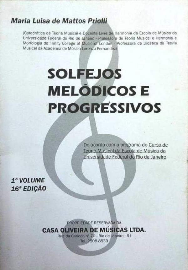 Método Solfejos Melódicos e Progressivos - Vol 1