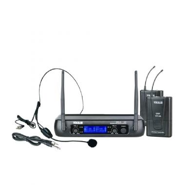 Microfone de Cabeça Sem Fio Duplo Vokal VWR25/HT9A