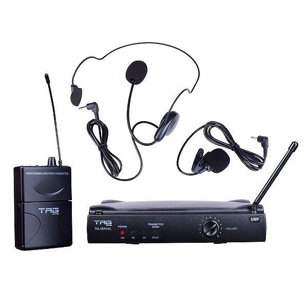 Microfone Headset Lapela Sem Fio Tagima TM-559 HSL