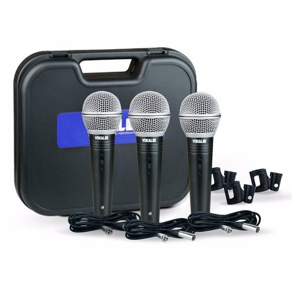 Microfone de Mão Vokal VM-500 (3 Unids)