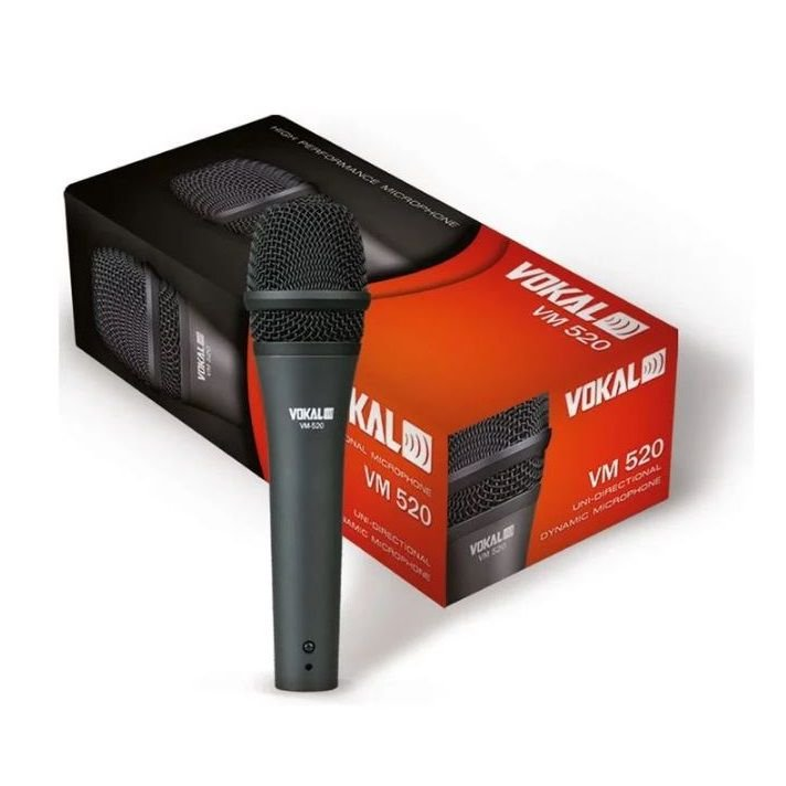 Microfone de Mão Vokal VM-520