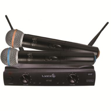 Microfone sem Fio de Mão Duplo Lyco UH02MM
