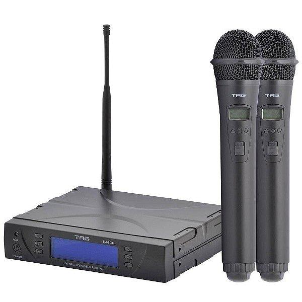 Microfone sem Fio de Mão Duplo Tagima TM-8034 Digital
