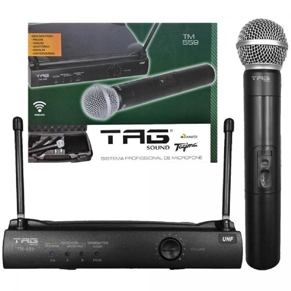 Microfone sem Fio de Mão Tagima TM-559
