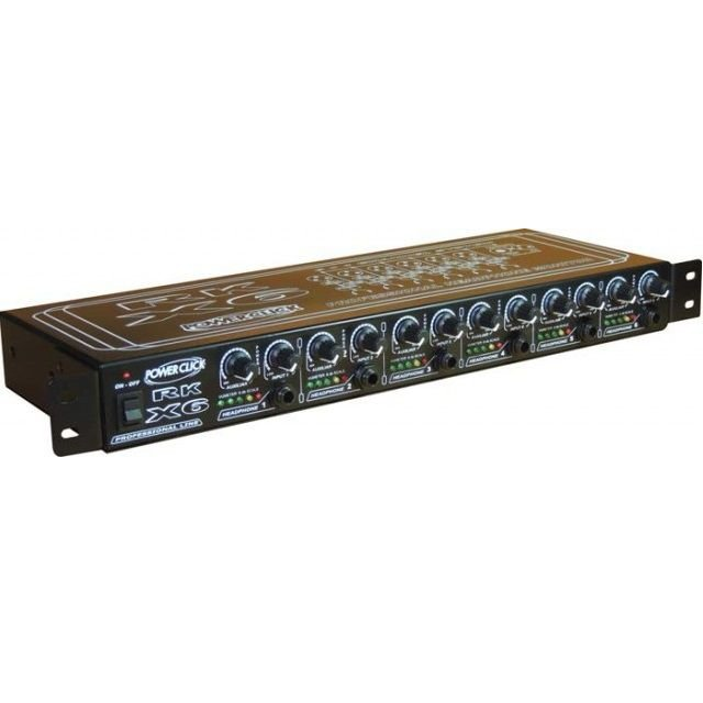 Monitor para Headphone Power Click Padrão Rack RK X6