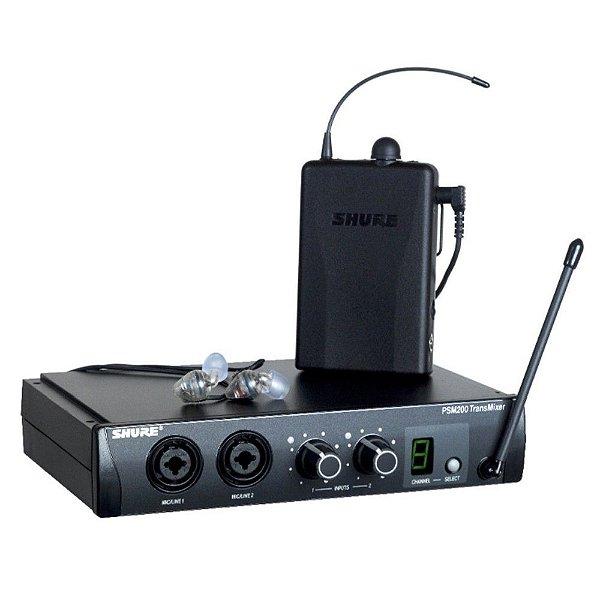 Monitor Retorno Sem Fio In Ear Shure PSM200 P2TBR