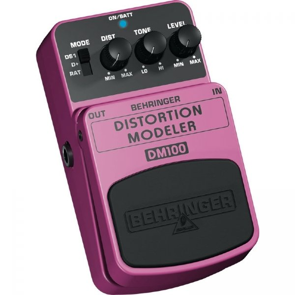 Pedal para Baixo / Guitarra Behringer Distortion Modeler DM100