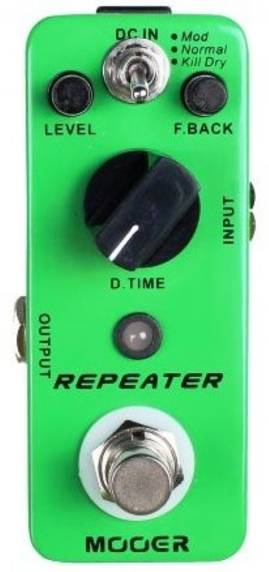 Pedal para Guitarra Mooer Repeater 3 Modes Digital Delay MDL1