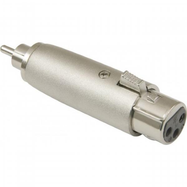 Plug Adaptador Canon Fêmea / RCA Macho Zad Som DEO