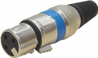 Plug Canon Fêmea 3 Pinos Zad Som 8949