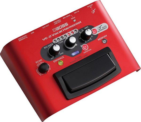 Processador de Efeito para Voz Boss VE-2 Vocal Harmonist