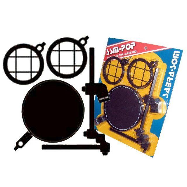Suporte Microfone Mic Shock Mount com Pop Filter SSM-Pop