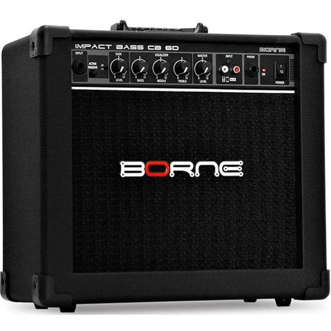 Amplificador Baixo Borne Impact Bass CB60 BK 20W