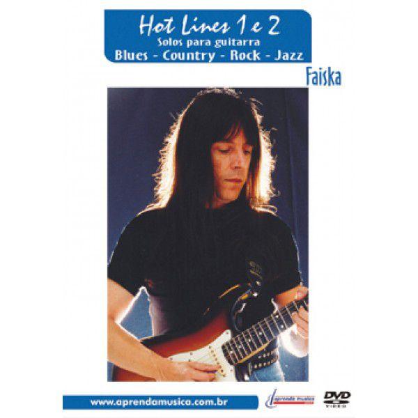 DVD Solos para Guitarra Hot Lines 1 e 2 Faiska