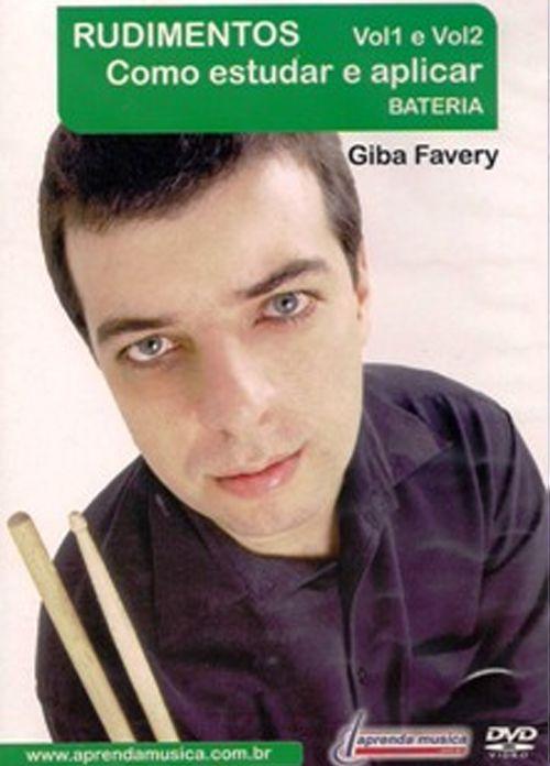 DVD Rudimentos Como Estudar e Aplicar Bateria Giba Favery