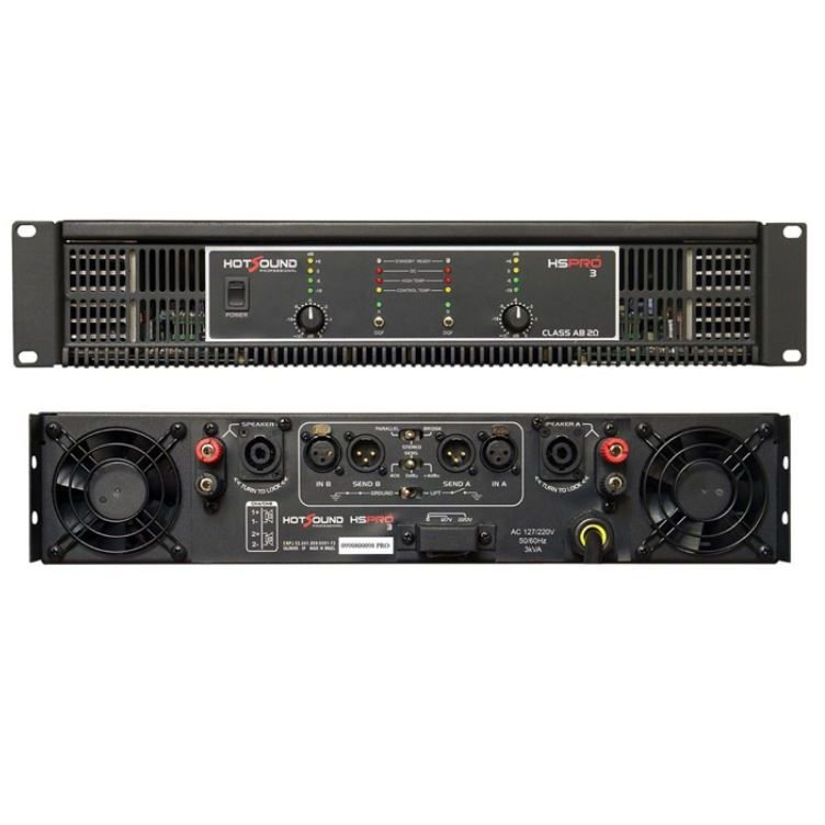 Potência Hot Sound HS Pro 3 3000W